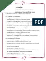 Checklist Voor Trouwdag