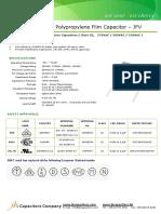 Condensator Poliester (JFV - X2)