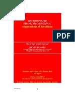 Dictionnaire Francais Espagnol expression locution