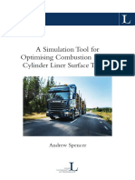A Simulation Tool for Optimising Combustion Engine Cylinder Liner Surface Texture