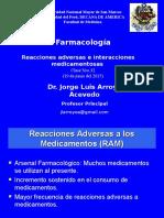 Clase 32 - Reacciones Adversas e Interacciones Medicamentosas