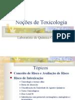 Nocoes de Toxicologia