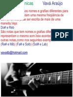 Notas Enarmonicas Vavá Araújo