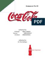 Organizational Management Assignment on Coca Cola