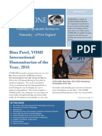 VOSH ONE Newsletter 2016-2017