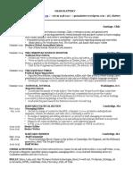 Resume - Gram Slattery - February 2017