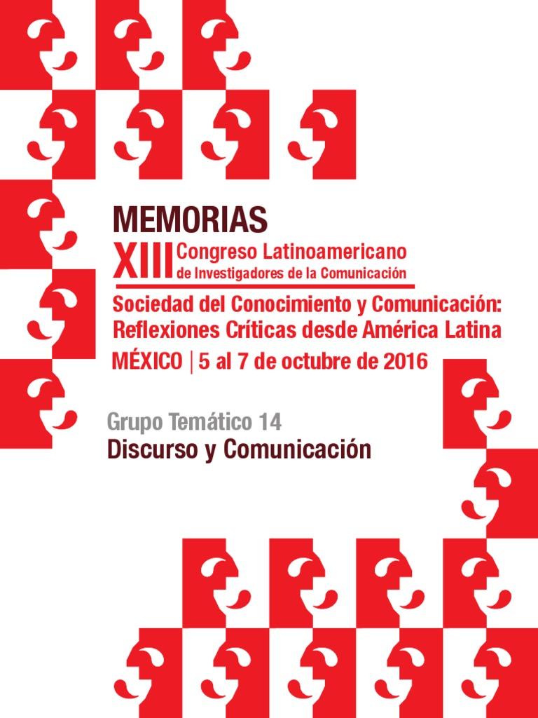 Memorias do XIII Congreso Latinoamericano de Investigadores de la  Comunicación 4ef49b702e1