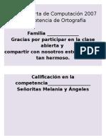 Diploma Competencia de Ortografía