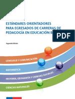 Estándares Orientadores Carreras de Pedagogía en Educación Básica