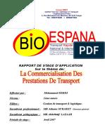 Rapport de Stage Bio Espana09!07!2007