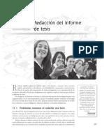 Redactar informe tesis