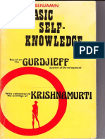 Harry Benjamin - Basic Self Knowledge Through Gurdjieff and Krishnamurti