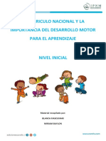 El Curriculo Nacional y La Importancia Del Desarrollo Motor Para El Aprendizaje