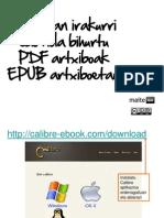 PDFtik EPUBera, iPadean irakurtzeko