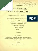 A Hand-book of Hindu Pantheism-The Panchadasi