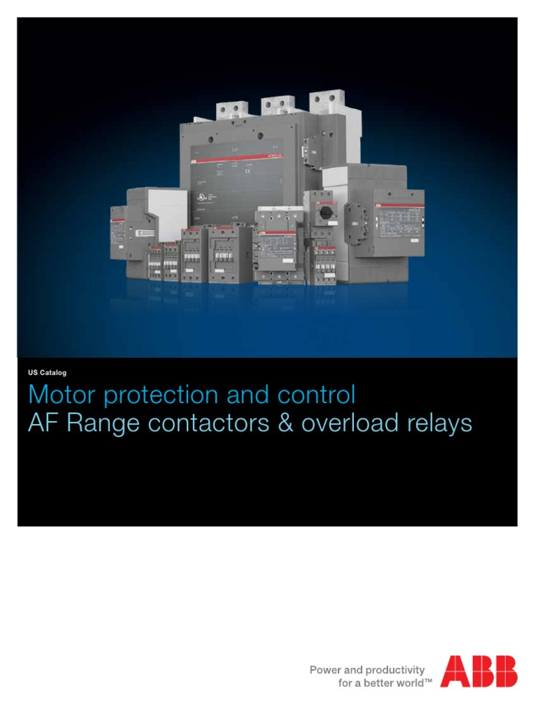 Af Contactors Overload Relays Catalog 1sxu100109c0201pdf Inductor Free Download Af75 Wiring Diagram Electrical Engineering