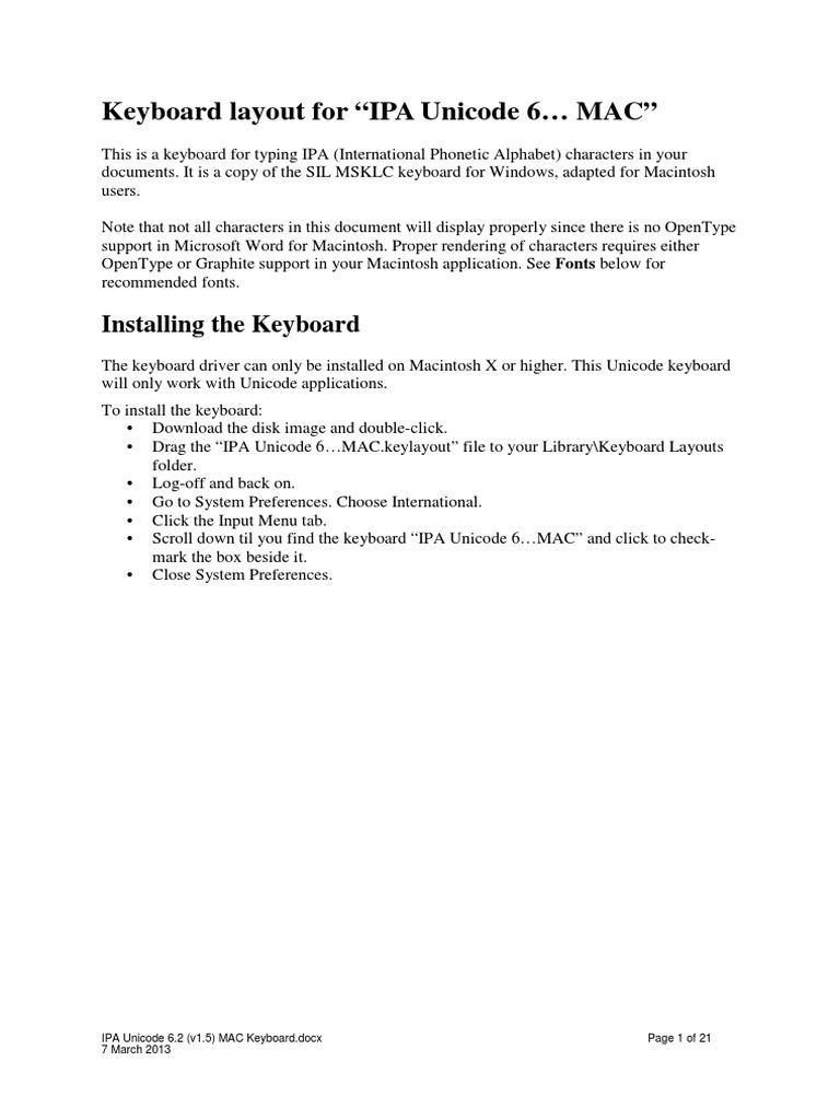 Ipa Keyboard For Mac