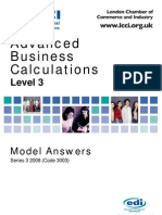 Advanced Business Calculations Level 3/Series 3 2008 (Code 3003)