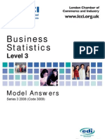 Business Statistics Level 3/Series 3 2008 (Code 3009)