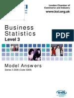 Business Statistics Level 3/Series 3 2008 (Code 3009)