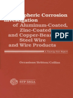 ASTM STP 585A-1984 Atmospheric Corrosion Investigation of Aluminum-Coated, Zinc-Coated, And Copper- Bearing Steel Wire and Wire Products - A Twenty-Year Report