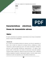 Características eléctricas líneas de transmisión aéreas