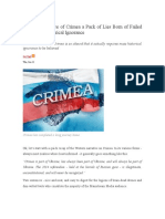 Western Narrative of Crimea