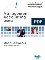 Management Accounting Level 3/Series 3 2008 (Code 3024)
