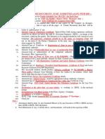 List of Mandatory Doc