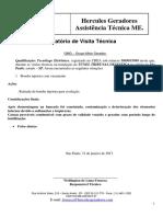 Relatório Túnel Tribunal de Justiça