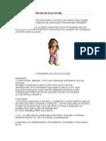 PRIMEIRO DIA DE AULA, HISTÓRIA DA MEL.docx