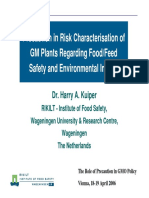 Precaution in Risk Characterisation of GM Plants Regarding Food-Feed Safety and Environmental Impact (Kuiper)