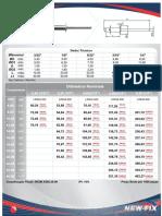 Tabela Rebites Aluminio Tamanhos