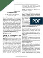 Efecto de La Temperatura Sobre Staphylococcus L3