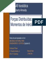 Cap9_forcas Distribuidas Momentos de Inercia MECANICA