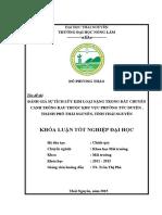 Đánh Giá Sự Tích Lũy Kim Loại Nặng Trong Đất Chuyên Canh Trồng Rau Thuộc Khu Vực Phường Túc Duyên - Thành Phố Thái Nguyên - Tỉnh Thái Nguyên.