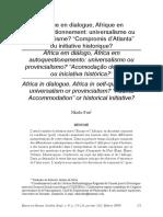 África Em Diálogo, África Em Autoquestionamento