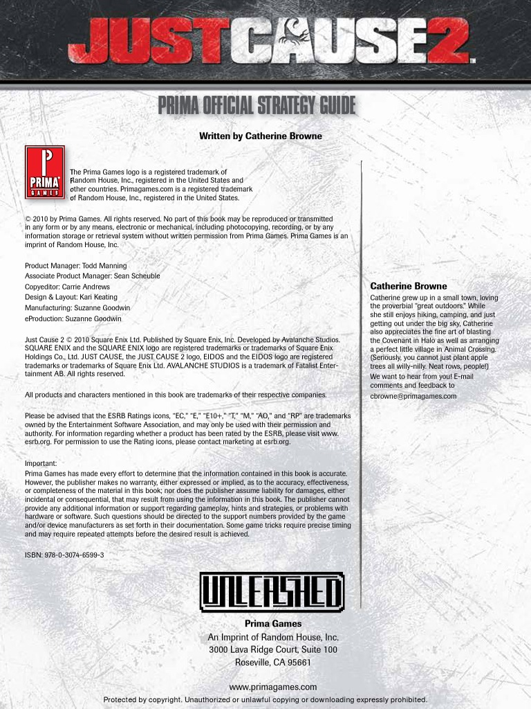 Just Cause 2 (Official Prima Guide) pdf