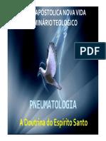 Pneumatologia o Espírito Santo No a.t. e n.t.