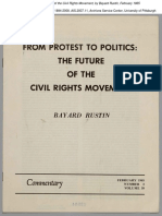 Bayard Rustin From Protest to Politics