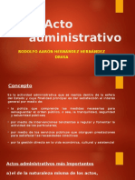 El Acto Administrativo