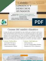 Cambio Climático y Derechos Humanos