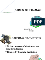 Sources of Finance Ppt