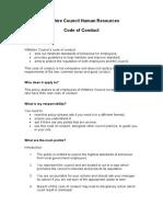 Code of Conduct - Appendix