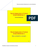 Telecommunications Engineering I - Probability Concepts and Stochastic Processes
