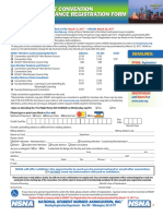Annual Convention Advanced Registration Form