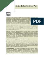 How to Optimize Detoxification Part 2
