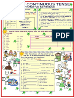 4875 Present Continuous Tense Affirmative Sentence 3 Pages 8 Tasks With Key Fully Editable