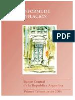 Informe de Inflacion I Trimestre 2004