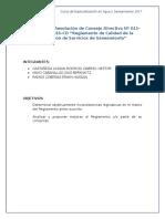 Análisis de La Resolución de Consejo Directivo Nº 011